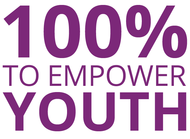 100% to Empower Youth